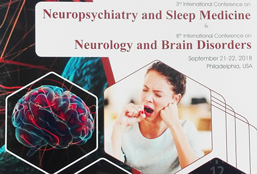 MU-Varna Was Presented at the International Conference on Neuropsychiatry and Sleep Medicine in Philadelphia, USA