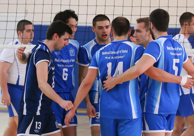 Volleyball Team of MU-Varna with Three Victories. The Final Match Will Be Played Today