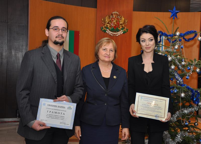 Awards for MU-Varna at the Competition for Outstanding Students of Varna Municipality