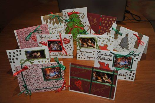 Handmade Christmas Cards Created to Warm Children's Hearts