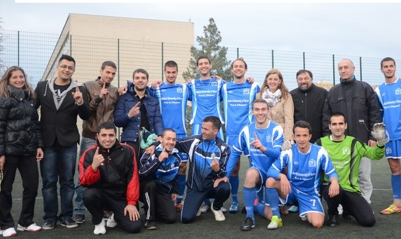 The Football Team of MU-Varna with a Representative in the Association of Sports Clubs Cherno More