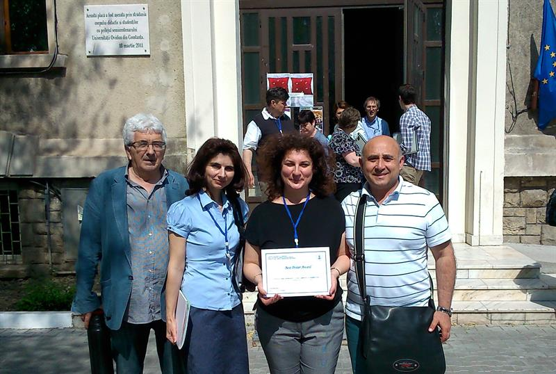 Lecturers from the Department of Chemistry Won the Best Poster Award at a Conference in Constanta