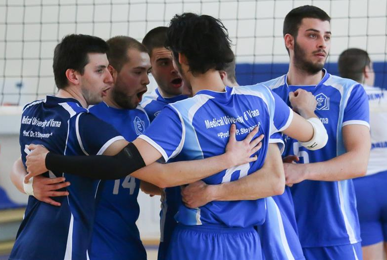 The Volleyball Team of MU-Varna Has Won the Varna Amateur Volleyball League