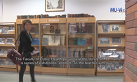 The Faculty of Public Health visited the library with a series of exhibitions